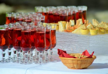 Wedding reception and alcohol